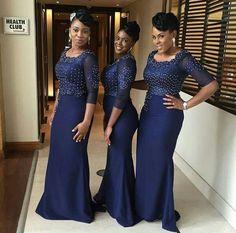Bridesmaids Inspiration loving them. Dresses by African Bridesmaid Dresses, African Wedding Dress, Affordable Bridesmaid Dresses, Wedding Dress Trends, Wedding Bridesmaid Dresses, Wedding Attire, Bridal Dresses, African Attire, African Fashion Dresses