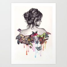 Butterfly Effect Art Print by KatePowellArt - $17.00