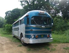 1947 GMC PD 3751 Greyhound Bus.