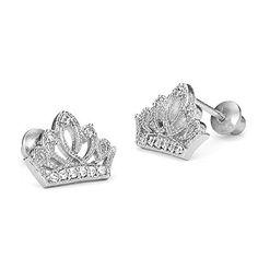 Sterling Silver Rhodium Plated Princess Crown Screwback Girls Earrings Children Earrings by Lovearing http://www.amazon.com/dp/B00ELUVMFW/ref=cm_sw_r_pi_dp_8Z3Cvb1GMQKCP