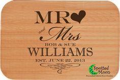 Cutting Board - Mr & Mrs Wedding Gift