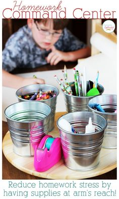 Homework Command Center - Reduce homework stress by keeping supplies and tools in one handy spot!