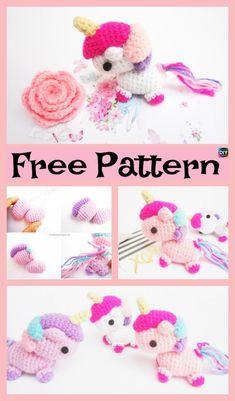 Adorable Crochet Amigurumi Unicorn – Free Pattern #freecrochetpatterns #unicorn #amigurumi #toys