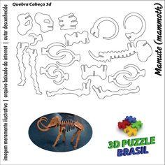 Arquivos para Download - CNC/Laser: 3D Puzzle Brasil - 01