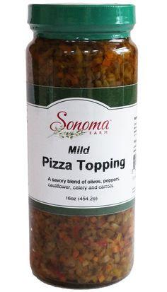 Mild Pizza Topping From Sonoma Farm Garlic Olive Oil, Organic Garlic, Salsa, Pizza, Stuffed Peppers, Food, Stuffed Pepper, Essen, Salsa Music