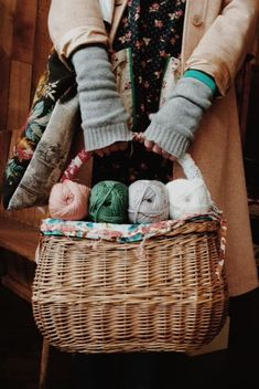 arm warmer. baskets. fall.