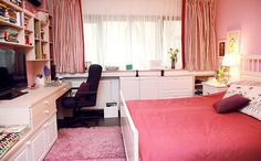 adelaparvu.com despre camera de tineret 16 mp, camera Raisei dormitor si loc de birou, design Alia Bakutayan si Daniel Tufis, Foto Valdecor (8)