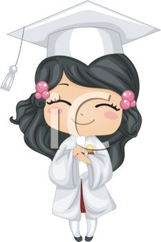 iCLIPART - Illustration of a Kid Holding Her Diploma
