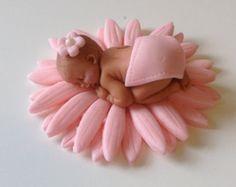 BABY SHOWER CAKE Topper Flower Daisy first by BabyCakesByJennifer