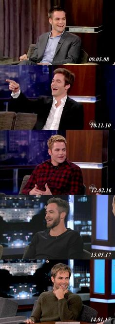 5 years of Chris on Kimmel via skyoz tumblr