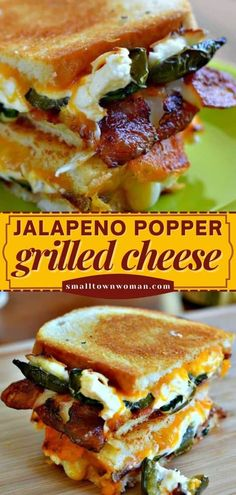 Love grilled cheese? Then you have to try this! Combined with jalapeno poppers and bacon, it is one of the best sandwich recipes you will ever make. Find yourself looking forward to this dinner idea! Grilled Sandwich, Soup And Sandwich, Wrap Recipes, Dinner Recipes, Dinner Ideas, Best Sandwich Recipes, Sandwich Ideas, Grilled Cheese Recipes, Easy Family Meals