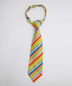 Take a look at this Coral & Green Stripe Tie by Trendy Ties on #zulily today! I have this tie for Will and it is my favorite!