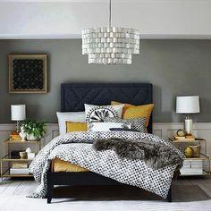 JEANS DE INVERNO | Que tal uma cabeceira de cama como essa? Complemente a decoração com almofadas e mantas quentinhas. #inspiracao #decoracao #inverno #ficaadica #SpenglerDecor