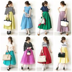 Statistics On Women S Fashion Key: 7272419343 Japan Fashion, Kawaii Fashion, Cute Fashion, Mori Fashion, Modest Fashion, Womens Fashion, Long Skirt Fashion, Spring Fashion Outfits, Uniqlo Style