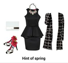 Spring's hint of colour night out date