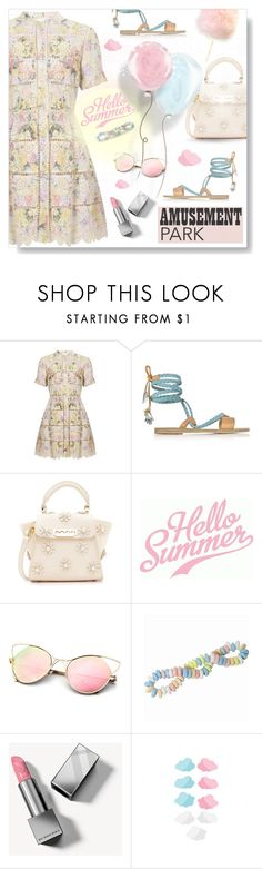 """Hello Summer..."" by desert-belle ❤ liked on Polyvore featuring Zimmermann, Ancient Greek Sandals, ZAC Zac Posen, Burberry, amusementpark, polyvoreeditorial and 60secondstyle"