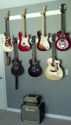 "How To Hang Guitar On Wall room that ""rocks""! 