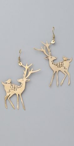Monserat De Lucca  Deer Earrings  shopbop.com    <3 awww!