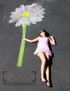 Daisy Chalk Art
