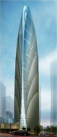 Z6 Plot Tower, Beijing, China :: 76 floors, height 405m, proposal