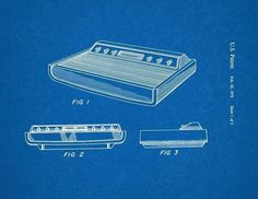 Atari 2600 Game Console Patent Print Art Poster Blueprint