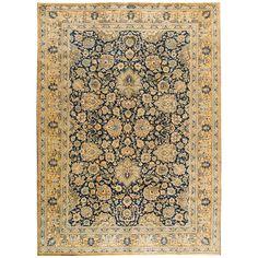 Nicely Contrasted Antique Tabriz Rug