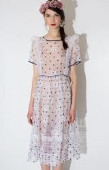 TBA Daisy Silk Midi Dress Pixie Market