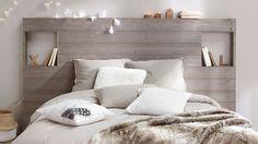Γγρ│ Une tête de lit faite avec des lambris de bois - 12 idées déco pour rendre une chambre cosy