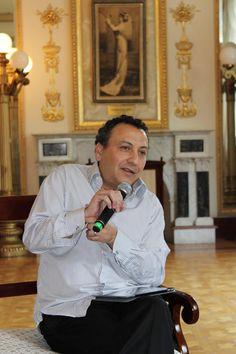 Día Internacional de la Danza Conferencia.  Cuauhtémoc Najera Ruíz (Coordinador Nacional de Danza). Foto: Dardané Pérez Romero / Secretaría de Cultura.
