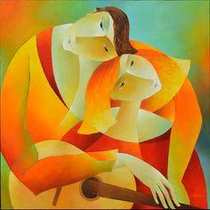 Collandre - Oeuvres   Rouge Passion par Francoise Collandre