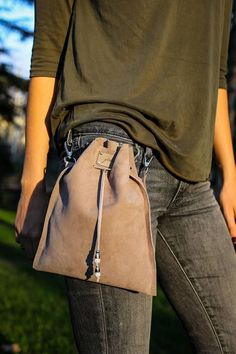 Small Bag l Gift for her | Bag for Women | Gray Bag | Birthday gift| Gift for women | Cross body Bag| Suede Handbag | Pouch Bag | Gray Pouch