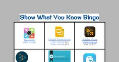 Show What You Know Bingo- A HyperDoc to inspire students  creating to show knowledge on a topic.