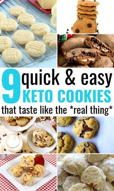 keto cookie recipes Best Keto Cookie Recipes That Will Forever Change Your Ketogenic Diet! You will never believe how quick and easy it is to bake some keto cookies that taste OUT O Keto Cookies, Bite Size Cookies, Diabetic Cookies, Healthy Cookies, Keto Friendly Desserts, Low Carb Desserts, Diabetic Friendly, Ketogenic Recipes, Keto Recipes