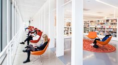 Gothenburg City Library receives over one million visitors every year. It is a natural meeting place and a strong cultural institution, which over the years . Agency Office, Library Pictures, Gothenburg Sweden, Interior Architecture, Interior Design, City Library, Meeting Place, Learning Spaces, Office Interiors