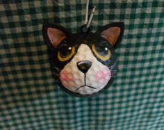Tuxedo Cat Golf Ball Ornament