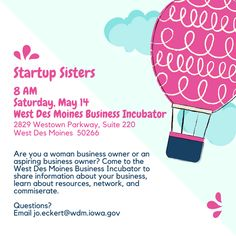 Startup Sisters, this Saturday!