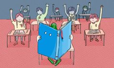 (Illustration by Dawn Kim.) How to teach a young introvert. #Ted #Education #longread http://ideas.ted.com/2014/09/02/how-to-teach-a-young-introvert/