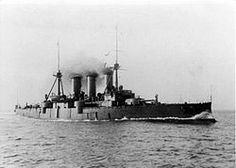 The armored cruiser Georgios Averof, flagship of the Greek fleet. At the time, she was the most modern warship involved in the conflict, and played a crucial role in operations in the Aegean Sea.