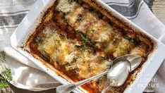 Lilek, rajčata, špenát a tři různé sýry v náplni, no prostě všechno zdravé, lehké a plné chuti. Vypadá to skvostně a taky to tak chutná, rolky se na jazyku jen rozplývají. Ricotta, Mozzarella, Lasagna, Pork, Low Carb, Chicken, Meat, Ethnic Recipes, Kale Stir Fry