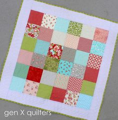 simple baby quilt by AM of Gen X Quilters, via Flickr