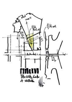 City Gate, the large revitalization project of Renzo Piano for La Valletta in Malta (drawing by Renzo Piano). MODERNO MEDITERRANEO - IoArch Costruzioni e Impianti,
