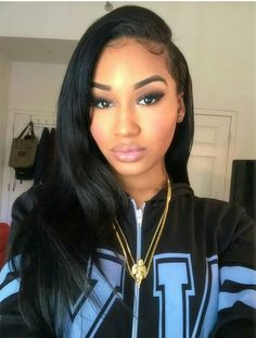 silk top glueless lace wig are the best lace wigs,the silk top lace wig glueless light yaki are 100 % Indian Remy Hair Black Girls Hairstyles, Indian Hairstyles, Weave Hairstyles, Straight Hairstyles, Natural Hair Styles, Long Hair Styles, Hair Laid, Peruvian Hair, Lace Front Wigs