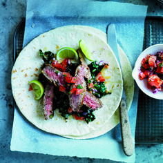 Iron: Flank Steak and Kale Tacos Recipe