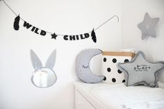 Garland WILD CHILD Feather will make your kids room unique and special! by @kita4kids