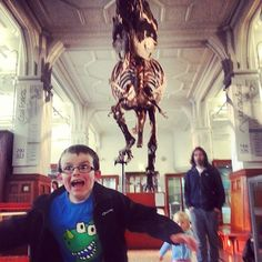 A narrow escape from Stan, our fearsome T. rex ! by @matthewblack1974