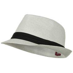 Solid Band Summer Straw Fedora - White Black W20S58B #Solid #Band #Summer #Straw #Fedora #White #Black #W20S58B