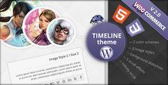 cool Timeline eCommerce Wordpress Theme