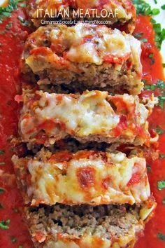 Italian Meatloaf! Oh my, this looks absolutely wonderful!! I love meatloaf... (and I love it even more the next day!) oh wow