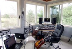 A bright writing room for the music section.