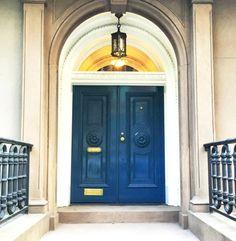Blue Lacquered Door